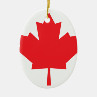 Canada Canadian flag Maple Leaf Ceramic Ornament