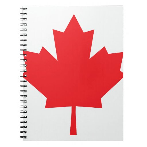 Canada Canadian flag Maple Leaf Spiral Note Books