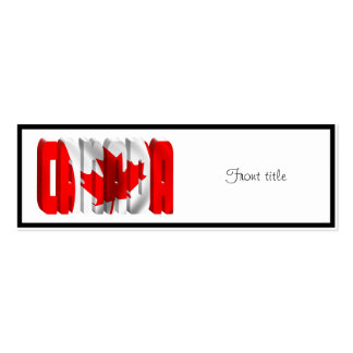 CANADA Canadian Flag Text Business Cards