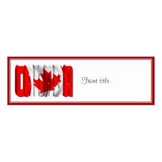 CANADA Canadian Flag Text Business Card Templates