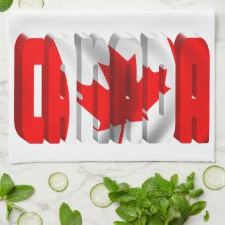 CANADA Canadian Flag Text Hand Towels