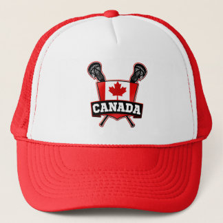 Canada Canadian Lacrosse Logo Trucker Hat