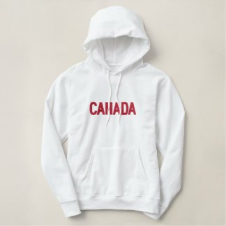 Canada Canadian North American Country Patriotic Embroidered Hoodie