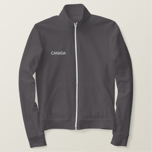 Canada Canadian North American Country Patriotic Embroidered Jacket