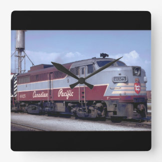 Canada, Canadian Pacific_Trains of the World Square Wall Clock