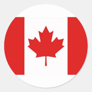 Canadá - canadiense - hoja de arce pegatina redonda