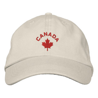Canada Cap - Red Maple Leaf Hat Embroidered Hats