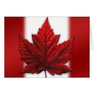 Canada Card Canada Flag Greeting Card