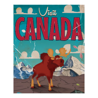Canada Cartoon Vintage Poster