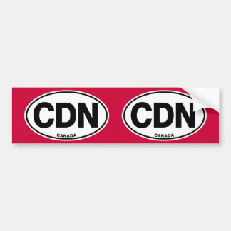 Canada CDN Oval Identity Code Letters Bumper Sticker