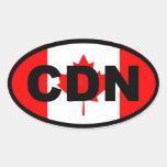Canadá CDN Pegatina Óval Personalizadas