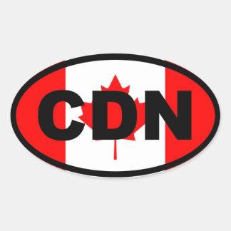 Canada CDN Oval Sticker