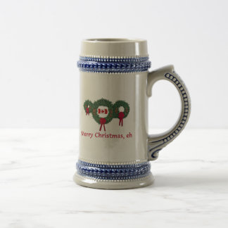 Canada Christmas 2 Beer Stein