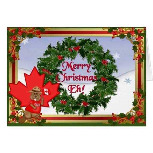 Canada Christmas - No Verse Greeting Card