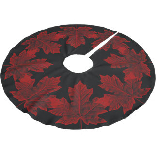 Canada Christmas Tree Skirt Cool Canada Maple Leaf