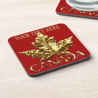 Canada Coasters Personalized Gold Canada Coaster