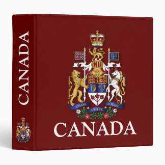 Canada coat of arms 3 ring binder