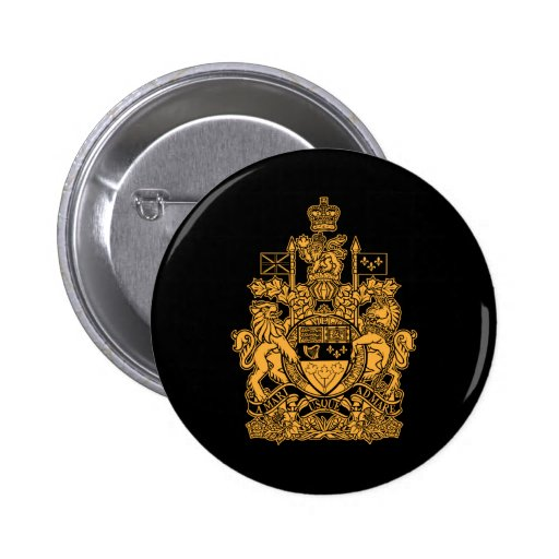Canada Coat of Arms - Canada Crest 2 Inch Round Button