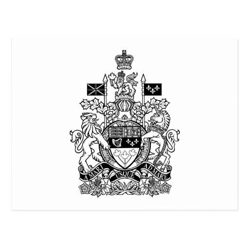 Canada Coat of Arms - Canada Crest Postcard