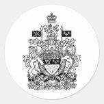 Canada Coat of Arms - Canada Crest Classic Round Sticker