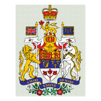 Canada Coat of Arms detail Postcard