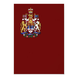 Canada coat of arms personalized invitations