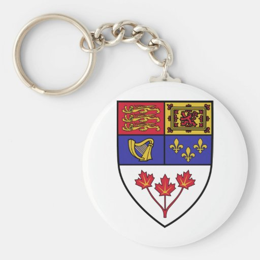 Canada coat of arms key chains