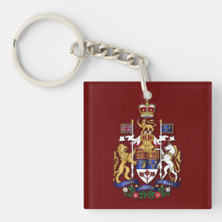 Canada coat of arms acrylic keychain