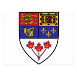 Canada coat of arms postcard