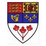 Canada coat of arms postcard