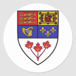 Canada coat of arms round stickers