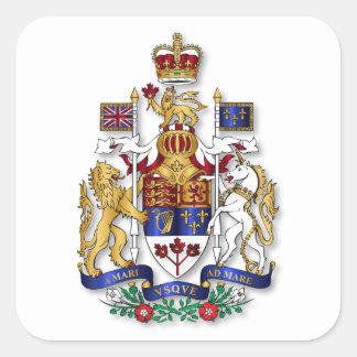 Canada coat of arms square sticker