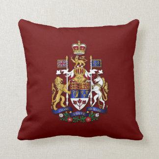 Canada coat of arms throw pillow