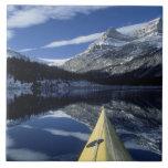 Canadá, Columbia Británica, Banff. Arco del kajak  Azulejo Cuadrado Grande