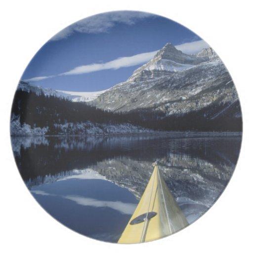 Canadá, Columbia Británica, Banff. Arco del kajak  Plato De Cena