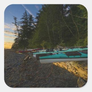 Canadá, Columbia Británica, isla de Vancouver, 2 Calcomanía Cuadrada