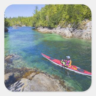 Canadá, Columbia Británica, isla de Vancouver. Mar Pegatina Cuadrada