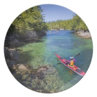 Canadá, Columbia Británica, isla de Vancouver. Mar Platos Para Fiestas