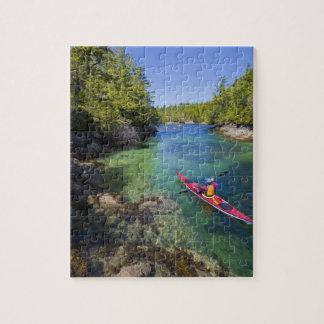 Canadá, Columbia Británica, isla de Vancouver. Mar Puzzle Con Fotos