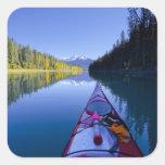 Canadá, Columbia Británica, lagos Bowron Calcomanía Cuadradas