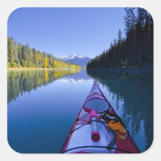 Canadá, Columbia Británica, lagos Bowron Pegatina Cuadrada