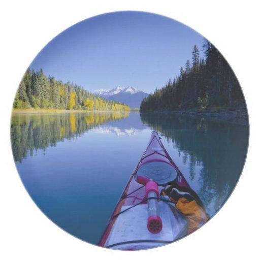 Canadá, Columbia Británica, lagos Bowron Plato De Cena