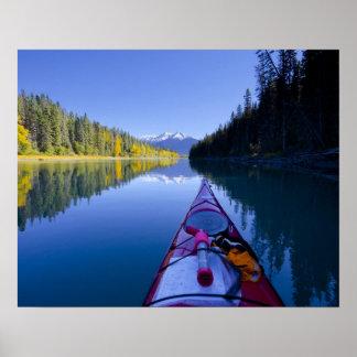 Canadá, Columbia Británica, lagos Bowron Póster
