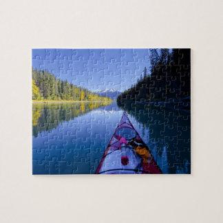 Canadá, Columbia Británica, lagos Bowron Puzzle