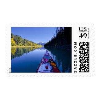 Canadá, Columbia Británica, lagos Bowron Sello Postal