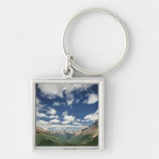 Canadá, Columbia Británica, Yoho NP. Nubes hinchad Llavero Cuadrado Plateado