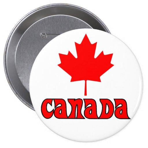 CANADÁ con la hoja de arce roja Pins