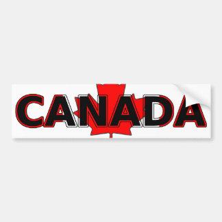 Canadá con la pegatina para el parachoques de la h etiqueta de parachoque