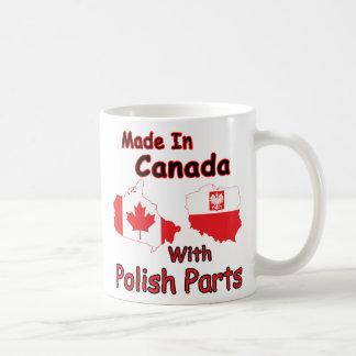 Canadá con las piezas polacas taza clásica