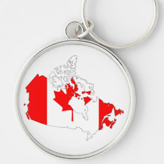 canada country flag map shape silhouette symbol keychain